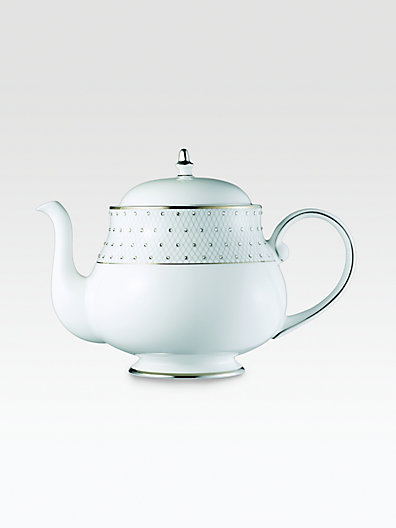 Gourmet Dining Prouna Crystal-Embellished Bone China Teapot