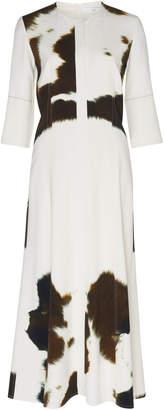 Victoria Beckham Printed Crepe Midi Dress