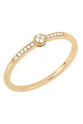 Bony Levy 18K Rose Gold Pave Diamond Stacking Ring - 0.05 ctw