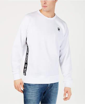 G Star Mens Logo Taping Crewneck Sweatshirt