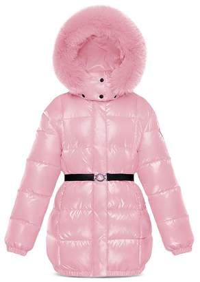 Moncler Girls' Parana Fur-Trimmed Puffer Jacket - Little Kid
