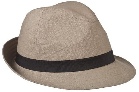 Mossimo Supply Co. Linen with Black Grosgrain Band Trilby - Khaki