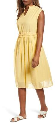 Caslon Drawstring Waist Dress (Regular & Petite)