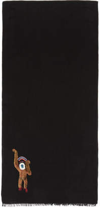 Paul Smith Black Monkey Scarf