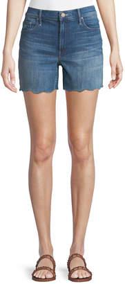 Mother Sinner Frayed Denim Shorts
