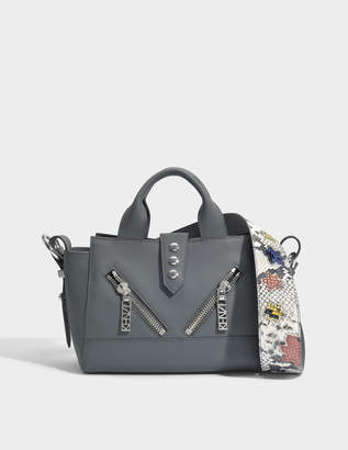 Kenzo Kalifornia Mini Shoulder Bag in Anthracite Gommato Calfskin