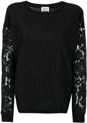 Twin-Set floral lace detail sweatshirt $235.27 thestylecure.com