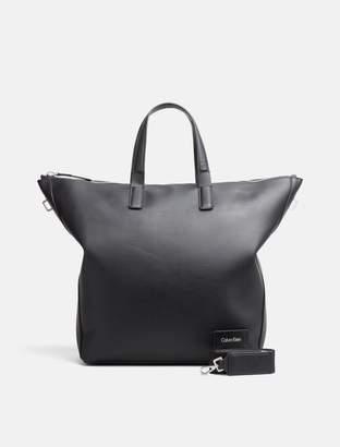 Calvin Klein canvas-textured large tote bag