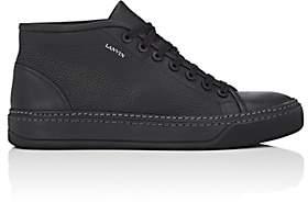 Lanvin Men's Grained Leather Sneakers - Black