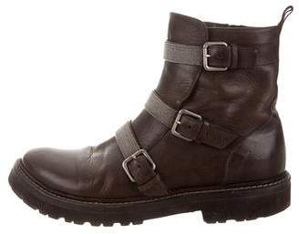 Brunello Cucinelli Monili-Embellished Ankle Boots