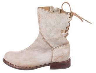 Bed Stu Distressed Leather Ankle Boots