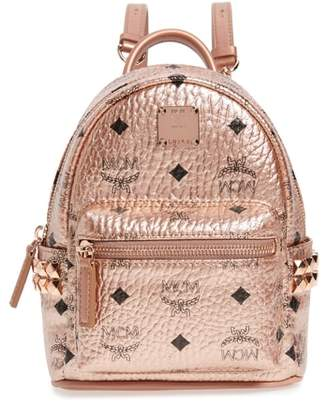 MCM X-Mini Stark Side Stud Coated Canvas Backpack