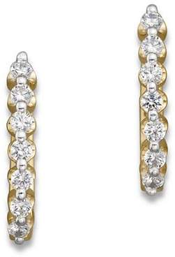 Bloomingdale's Diamond Huggie Hoops in 14K Yellow Gold, .50 ct. t.w. - 100% Exclusive