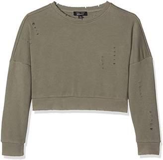 New Look 915 Girl's Nibbled Distressed Long Sleeve Sweatshirt