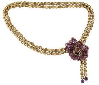 Iradj Moini Embellished Chain-Link Belt