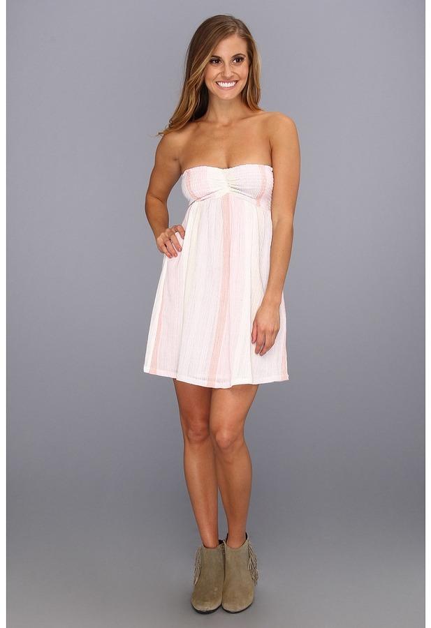 Roxy Blissful Sun Dress (Sea Salt Stripe) - Apparel