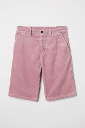 H&M Cotton Corduroy Shorts - Pink