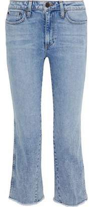 Alice + Olivia Ao.la By Perfect Cropped Mid-Rise Bootcut Jeans