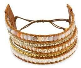 Chan Luu African Opal Mix Wrap Bracelet - Brown