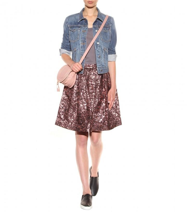 Alice + Olivia Pia metallic-brocade skirt