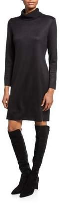 Misook Petite Long-Sleeve Turtleneck Dress