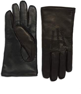 UGG Wool Lined Touch Screen Leather Gloves