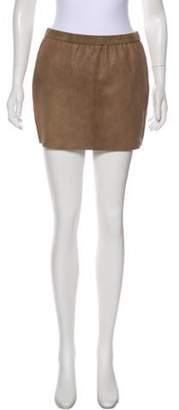 Isabel Marant Leather Mini Skirt Tan Leather Mini Skirt