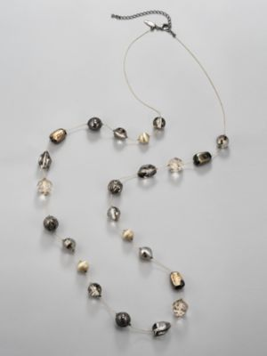 Long Multi-Bead Necklace