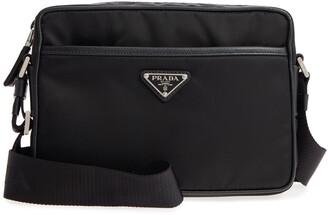 Prada Tessuto Saffiano Leather Messenger Bag