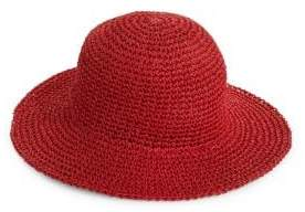 Echo Packable Crochet Straw Bucket Hat