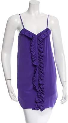 Tibi Ruffle-Accented Sleeveless Dress