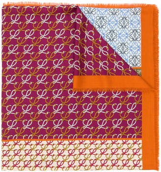 Loewe logo print scarf