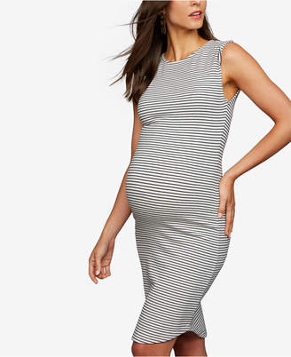 BB Dakota Maternity Striped Sheath Dress