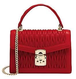 d50aca92eff4 Miu Miu Women's Matelassé Leather Top Handle Bag