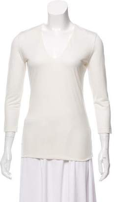 Akris Woven Long Sleeve Top