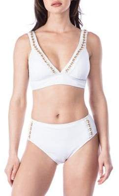 Kenneth Cole Reaction Chain Reaction Plunge Bikini Top