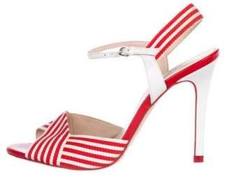 LK Bennett Canvas Ankle Strap Sandals