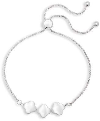 Canvas Clover Charm Bracelet