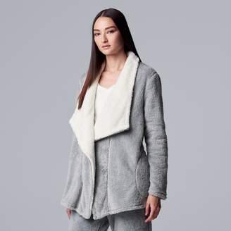 Vera Wang Women's Simply Vera Chenille Wrap Cardigan
