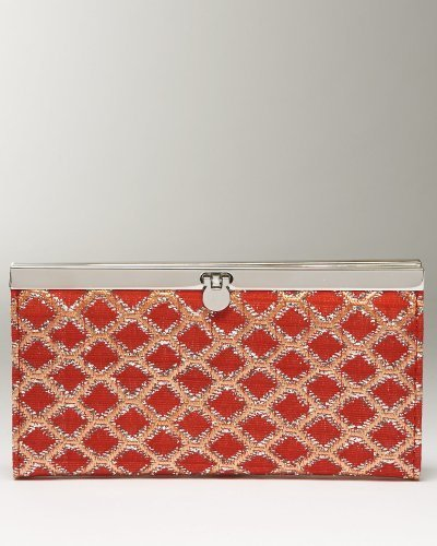 Glam Quilted Snap Clutch