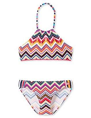 Schiesser Girl's Aqua Highneck-Bikini Swimwear Set