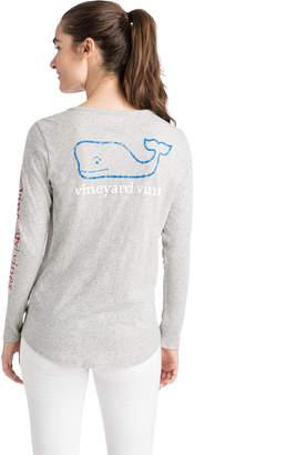 Vineyard Vines Long-Sleeve Tri Color Vintage Whale Slub Tee