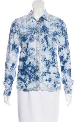 Blank NYC Tie Dye Button Up Blouse
