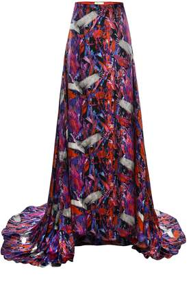 Jennifer Rothwell Crane Print Maxi Skirt