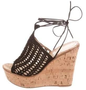 Gianvito Rossi Woven Platform Wedge Sandals