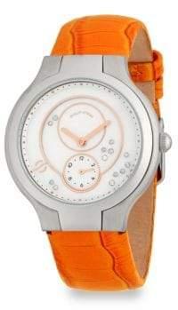 Philip Stein Teslar Diamond Classic Leather Strap Watch