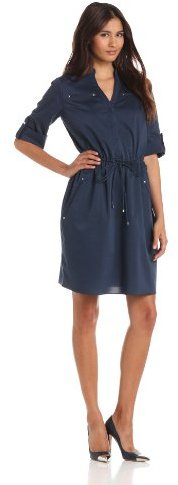 Adrianna Papell Women's Elastic Shirt Dress