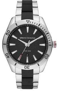 Armani Exchange Enzo Three-Hand Two-Tone Stainless Steel Watch