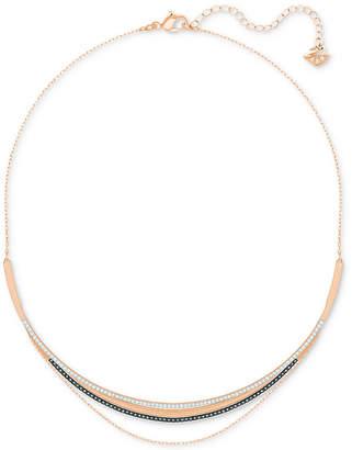 Swarovski Rose Gold-Tone Multi-Layer Pave Collar Necklace
