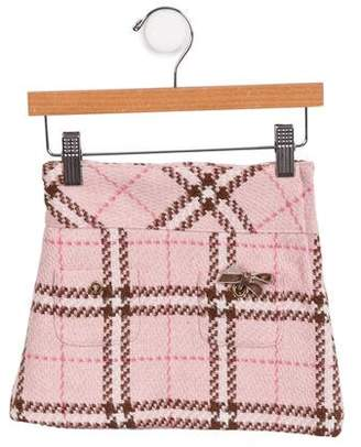 Lili Gaufrette Girls' Plaid Skirt
